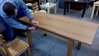 видео столы обеденные дуб