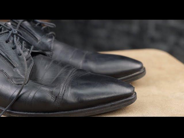 Трещины на сгибах обуви все сложности в работе