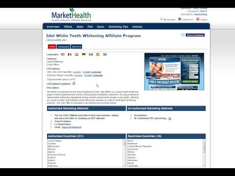 How to Create a Campaign & Get Your Affiliate Links In Market Health Affiliate Program. http://bit.ly/2oqOUKJ