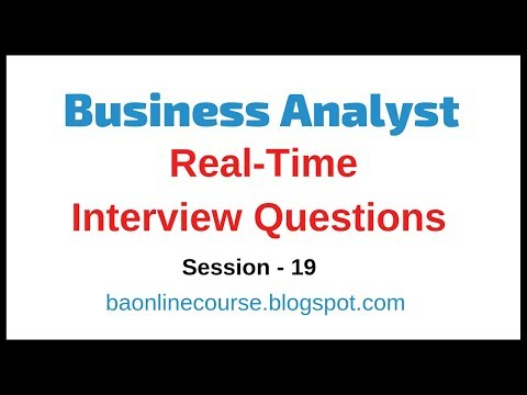 Business Analyst Real Time Interview Questions | Business Analysis Questions & Answers Tutorial thumbnail
