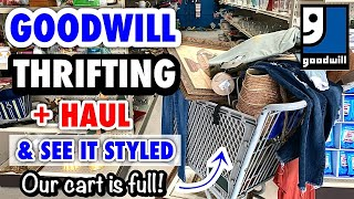 HOME DECOR THRIFT SHOPPING AT GOODWILL & THRIFT HAUL * THRIFT WITH ME * HOW I STYLE THRIFTED DECOR *