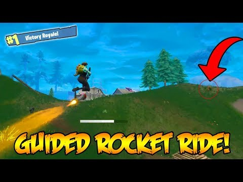 NEW GUIDED MISSLE ROCKET RIDING FOR THE WINS! (Fortnite: Battle Royale Update) thumbnail