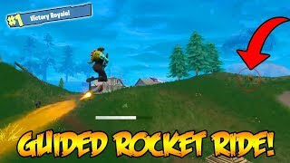 NEW GUIDED MISSLE ROCKET RIDING FOR THE WINS! (Fortnite: Battle Royale Update)