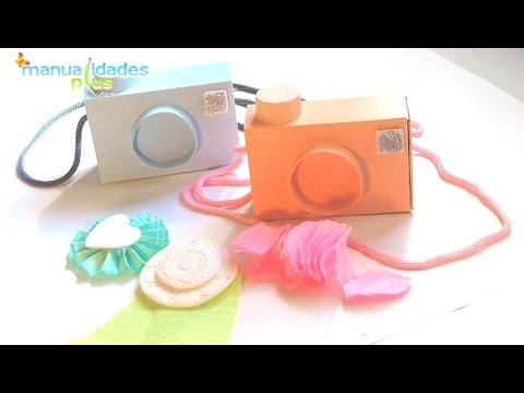 Camaras de fotos con cajas de fosforos para dulceros souvenirs manualidades con reciclaje youtube - Imagen de manualidades ...