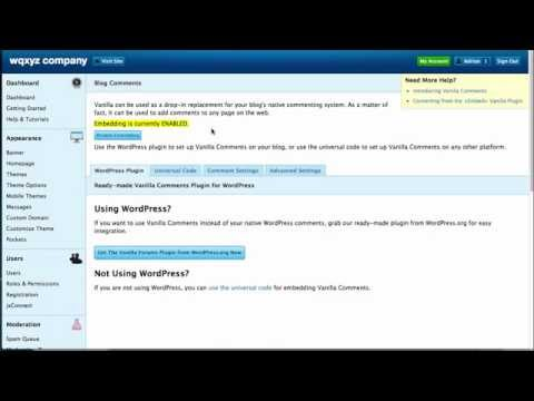 Integrate Vanilla Forums into a WordPress Site - YouTube