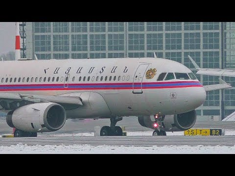 [FullHD] Armenian Government A319 (701) Taxi+Take Off At Munich Airport!