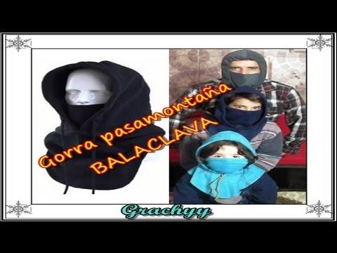 Gorra pasamontaña Balaclava \
