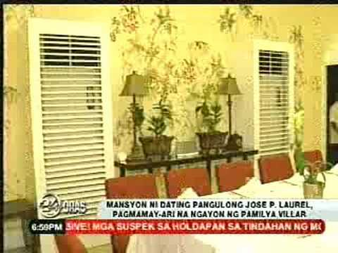 Jose P. Laurel Mansion Bought by Manny Villar 8/5/08