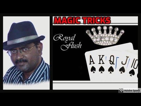 ONLINE TAMIL MAGIC I ONLINE MAGIC TRICKS TAMIL #620 I ROYAL FLUSH