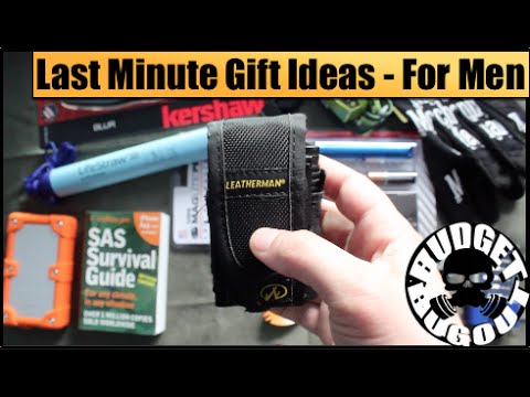 Last Minute Stocking Stuffer Gift Ideas For Men | Outdoor, Survival, Camping, EDC Gear