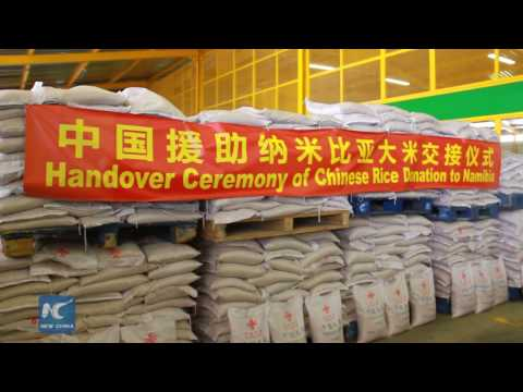China handover 4000 tonnes of donated rice to Namibia