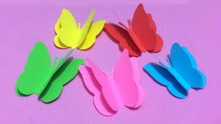 How to Make Butterfly with Color Paper | Making Paper Butterflies Step by Step | DIY-Paper Crafts