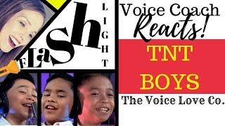 Voice Coach Reacts | TNT Boys | FLASHLIGHT | Christi Bovee