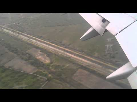 Plane Landing on vadodara airport