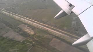 Plane Landing on vadodara airport