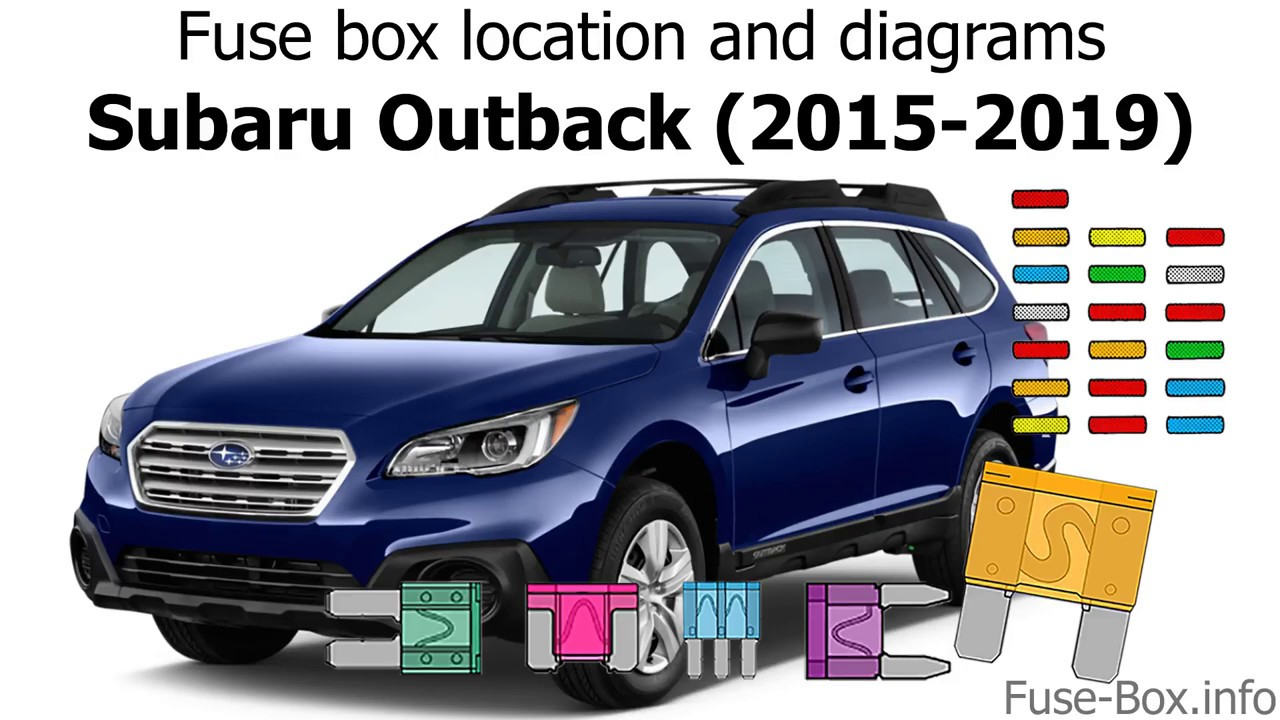 fuse box location and diagrams subaru outback 2015 2019  [ 1280 x 720 Pixel ]