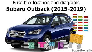 Fuse box location and diagrams: Subaru Outback / Legacy (2015-2019) -  YouTubeYouTube