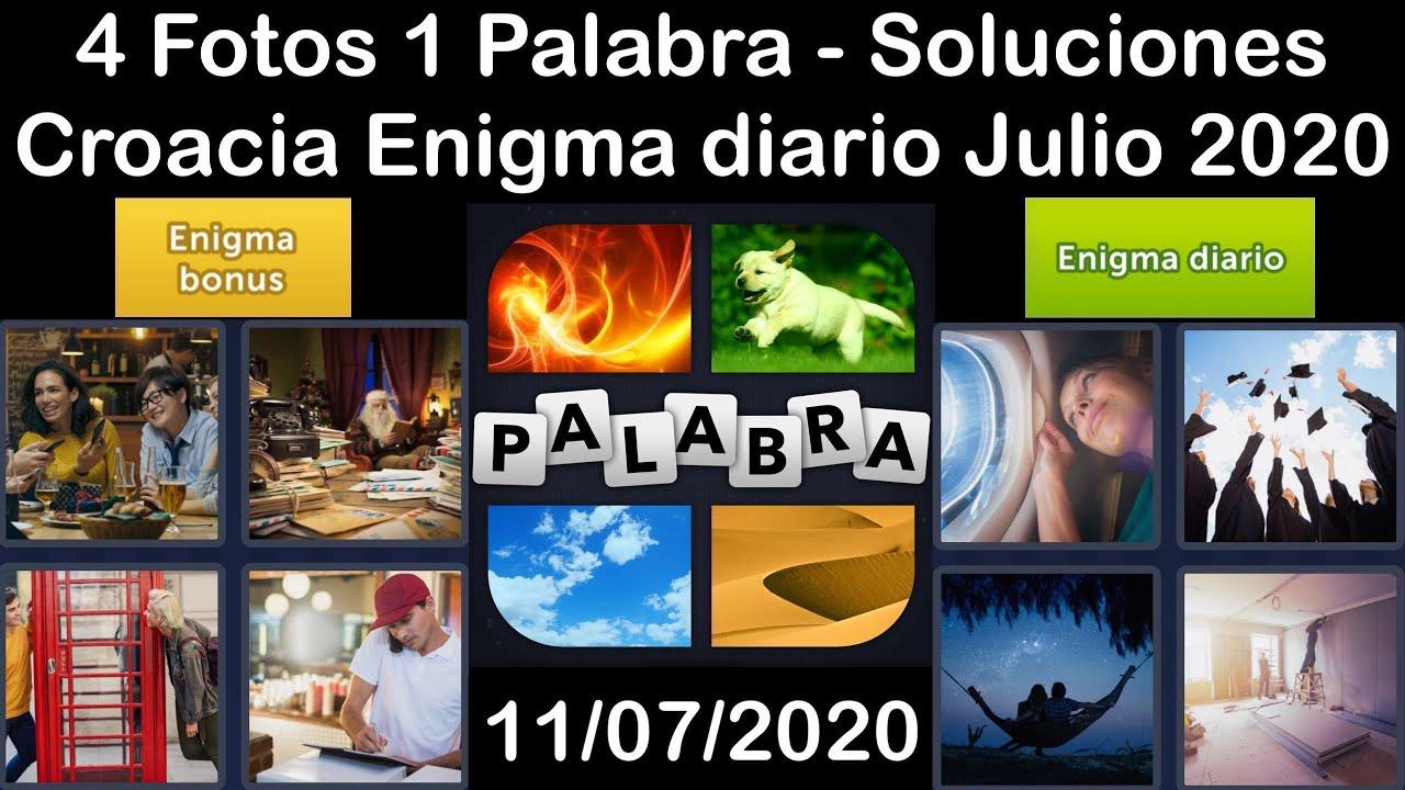 4 Fotos 1 Palabra - Croacia - 11/07/2020 - Julio 2020 - Enigma diario + Enigma bonus - Solucion