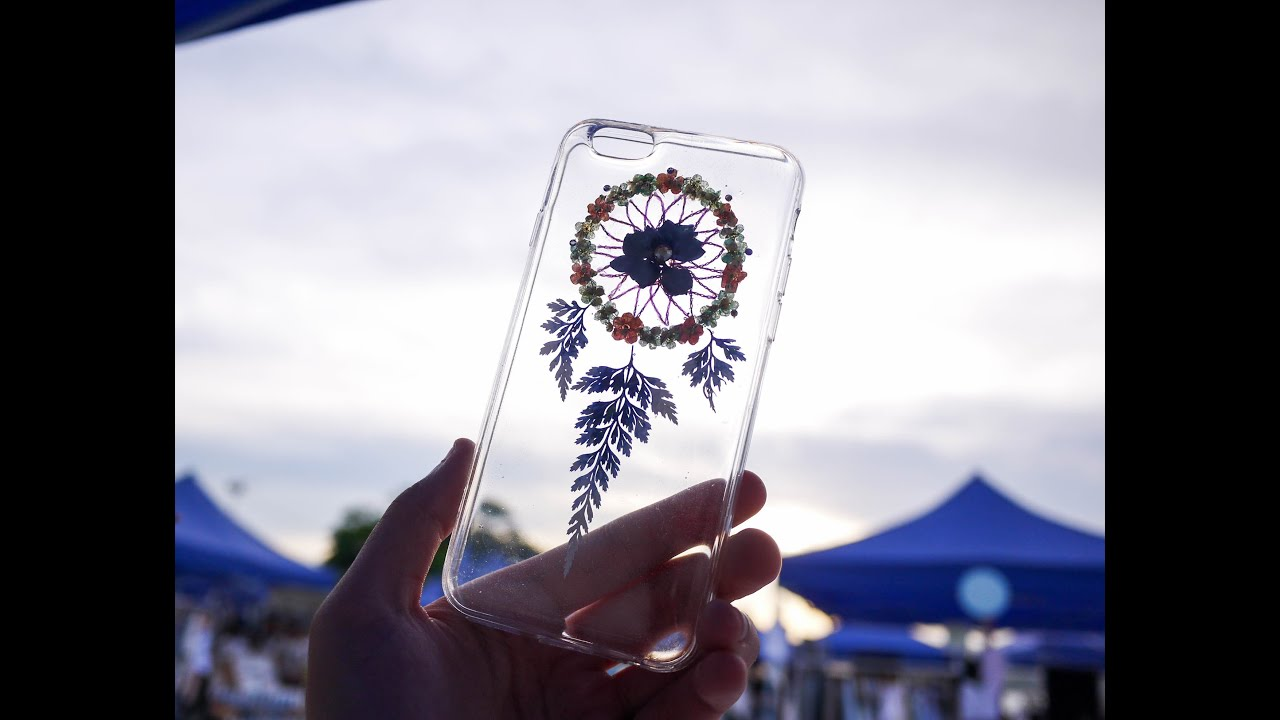 [訂製/custom-made] 多色選擇!! 捕夢網押花手機殼 Dreamcatcher Pressed Flower Phone Case