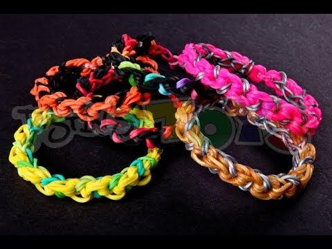 how to make rainbow loom bracelets easy