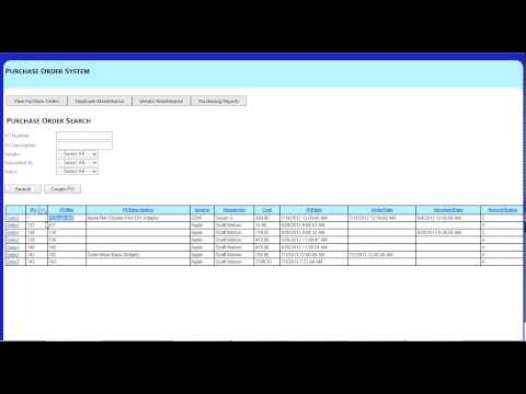 Purchase Order Management System