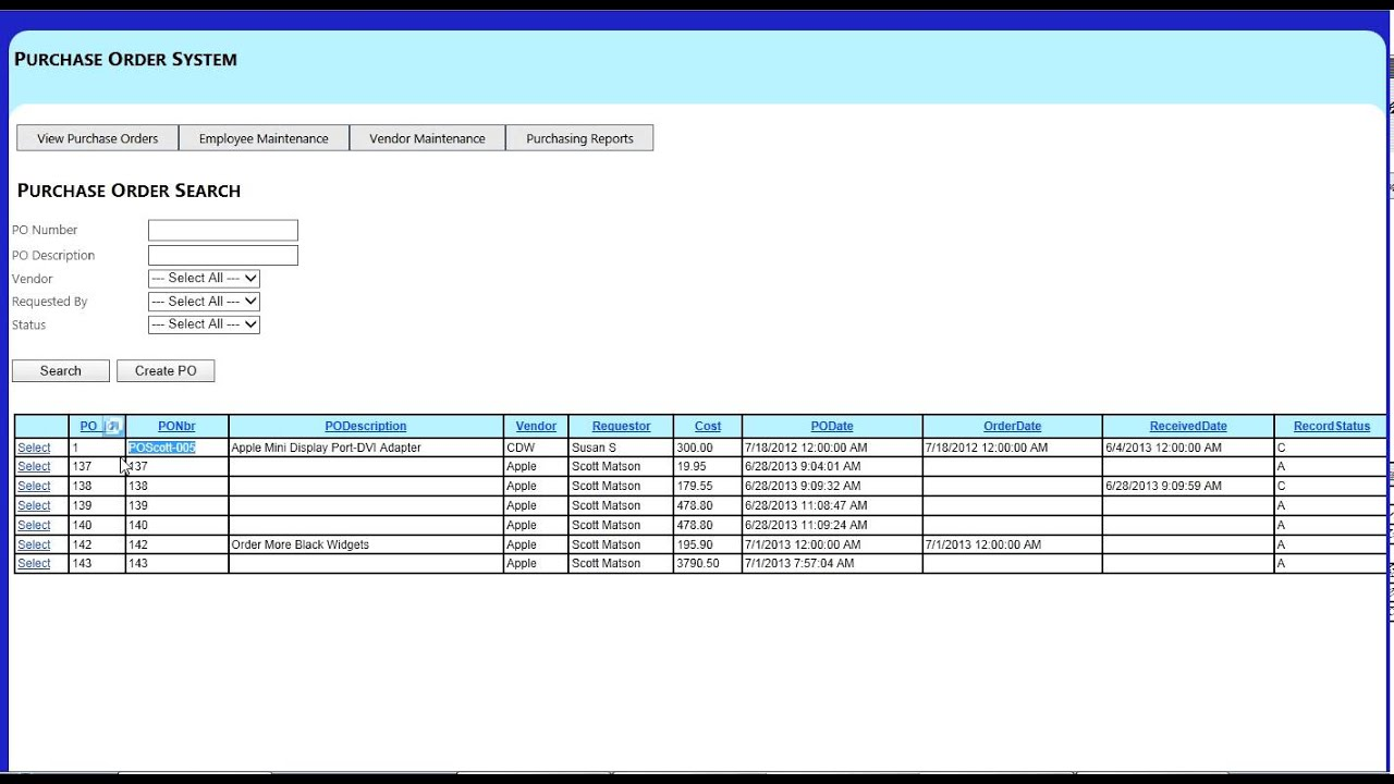 Purchase Order Management System - YouTube