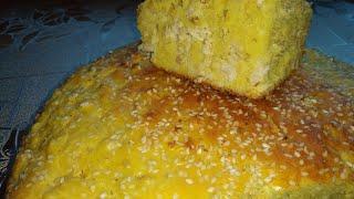 Заливной пирог из трёх видов муки, без пшеничной муки, без глютена