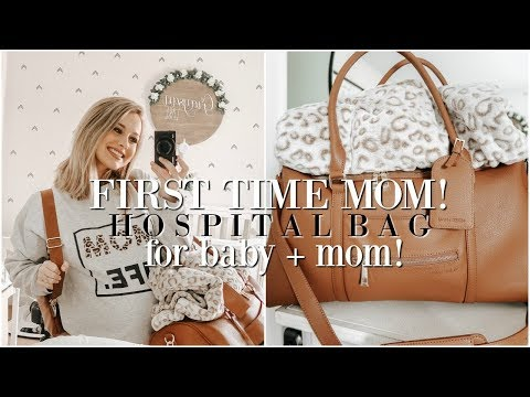 WHAT'S IN OUR HOSPITAL BAGS! First Time Mom + Baby's Bag! ♡