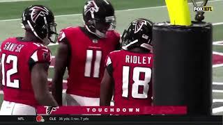 Calvin Ridley First NFL TOUCHDOWN PASS FROM MATT RYAN - Falcons vs Panthers Highlights- 12 yard TD