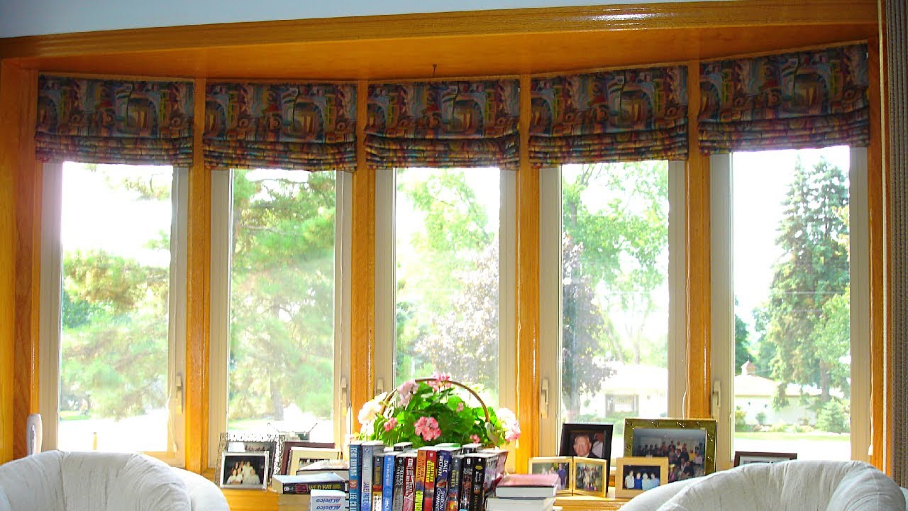 Bow Window Blinds Fitting at Home Ideas - YouTube