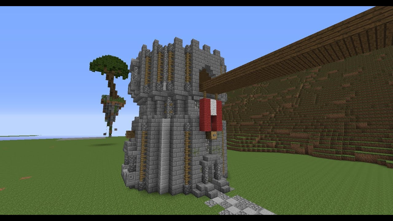 Minecraft Medieval Castle Tower Build Tutorial - YouTube