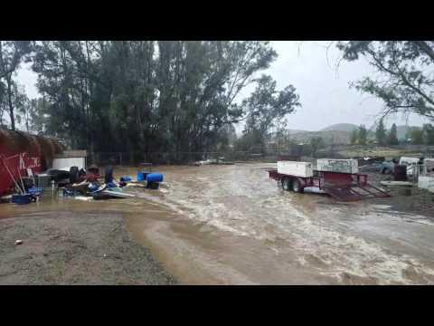 Flooding in Lake Elsinore ca.