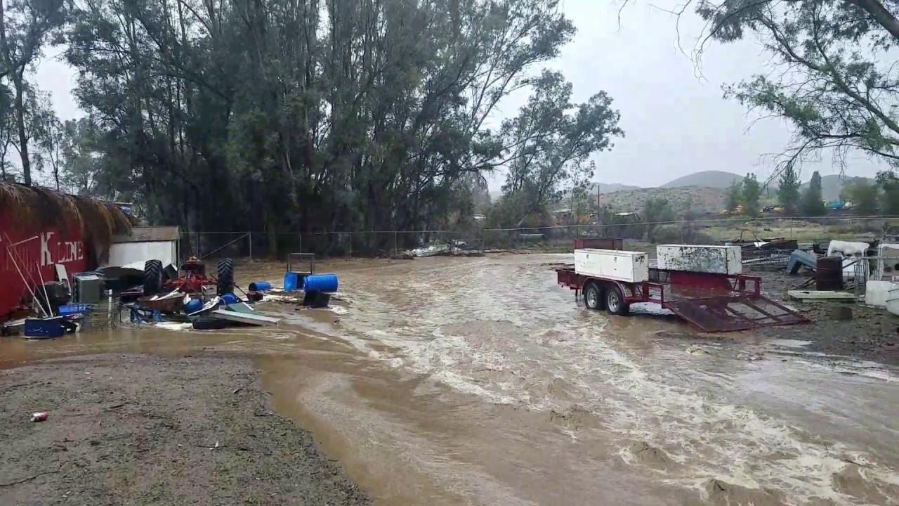 Flooding in lake elsinore ca youtube for Lake elsinore fishing report
