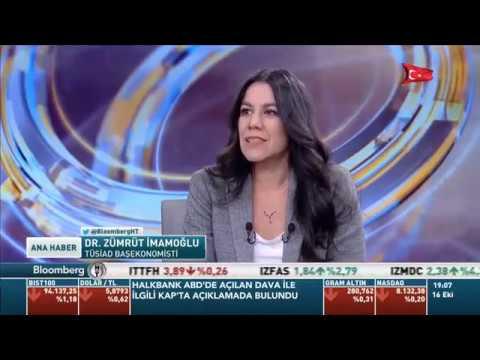 TÜSİAD Başekonomisti Zümrüt İmamoğlu BloombergHT Ana Haber Bülteni'ne konuk oldu