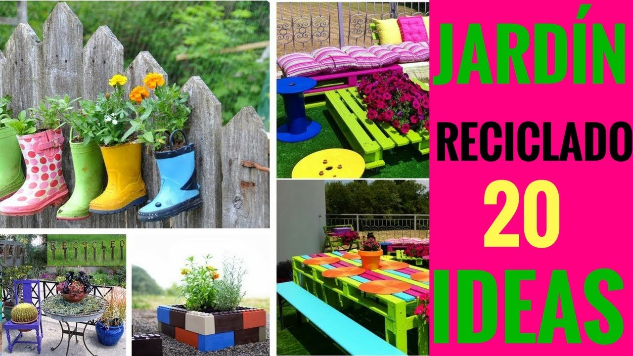 20 ideas para decorar el jard n reciclando manualidades para decorar el jard n youtube - Ideas para jardineria ...