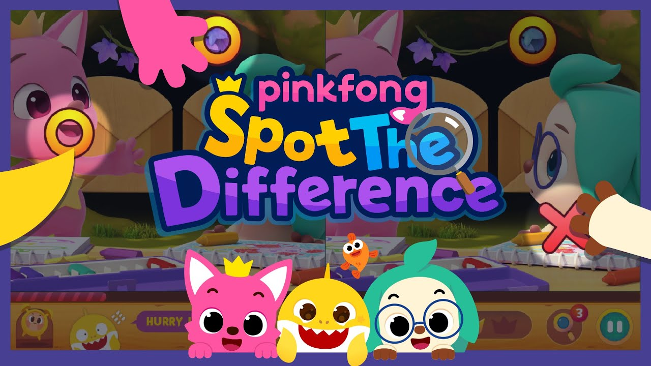 [App Трейлер2] Pinkfong Spot the difference: Finding Baby Shark   Пинкфонг Игры для Детей