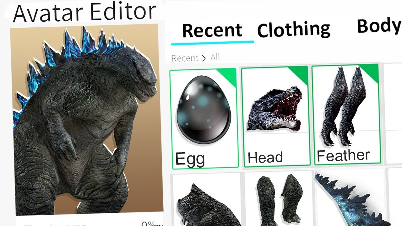Making Godzilla A Roblox Account Youtube