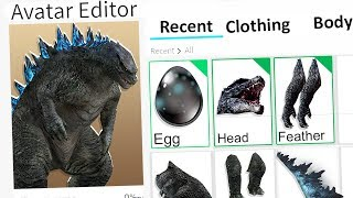 MAKING GODZILLA A ROBLOX ACCOUNT!!