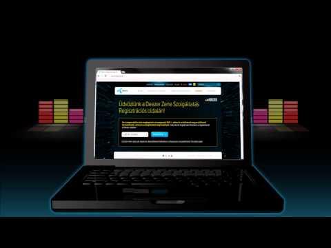 Deezer Zene regisztráció számítógépen