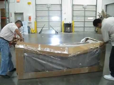 American Leather Lux Sofa Packaging Vertical Drop Test