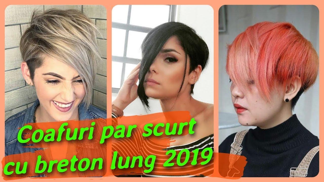 20 Modele Coafuri Par Scurt Cu Breton Lung 2019 Youtube