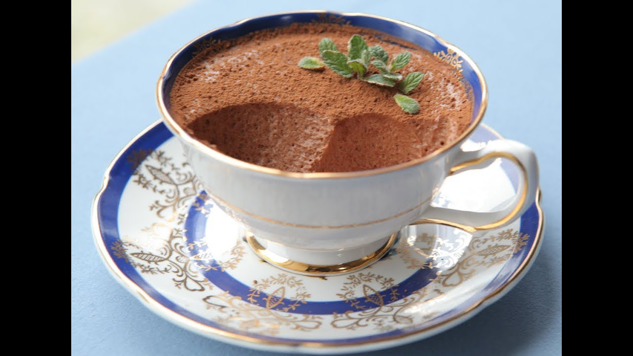 как приготовить шоколадный мусс в домашних