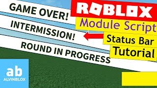 Roblox Status Bar Tutorial - ModuleScript Version
