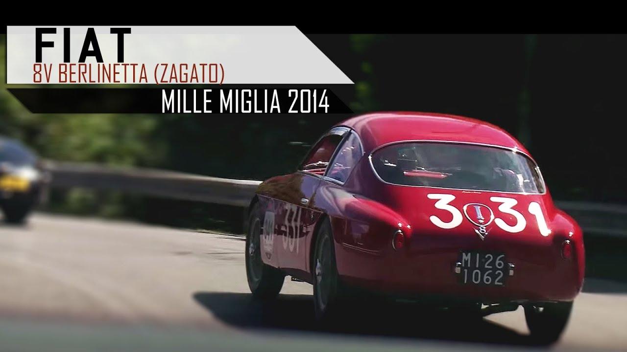 Fiat 8v Berlinetta Zagato Mille Miglia 2014 Engine