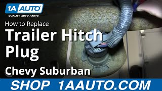 How to Replace Trailer Hitch Plug 00-14 Chevy Suburban 1500 - YouTube | Chevrolet Tahoe Trailer Plug Wiring |  | YouTube