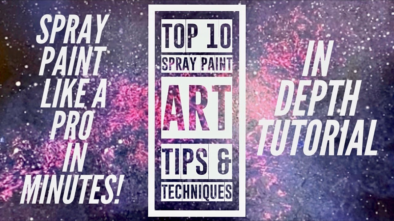 Top 10 Spray Paint Art Techniques - Beginner Spray Paint ...