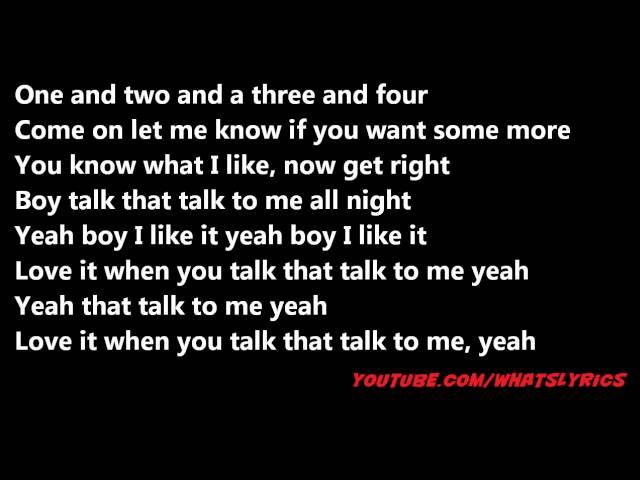 Rick Ross ft Rihanna & Jay-Z -- Talk That Talk (Remix) Lyrics