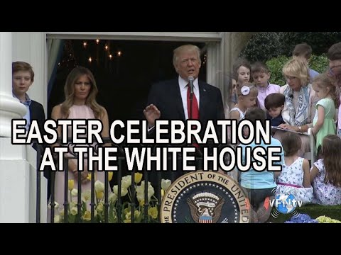 Easter Celebration at the White House! Melania Trump and Cabinet Members with Children on Easter