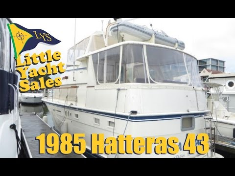 1985 Hatteras 43 motoryacht for sale at Little Yacht Sales, Kemah Texas