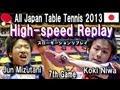 High-Speed Replay Table Tennis 丹羽孝希 vs 水谷隼 全日本卓球 MS決勝